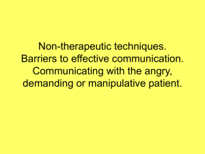 Non-therapeutic techniques
