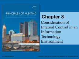 Consideration of Internal Control in a Computer Environment