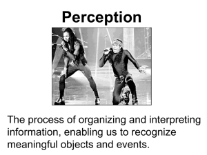 Intro to Perception