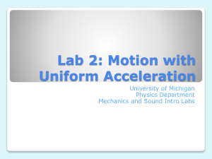 Lab 2: Motion with Uniform Acceleration