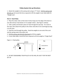 Pulley System Set-up Directions
