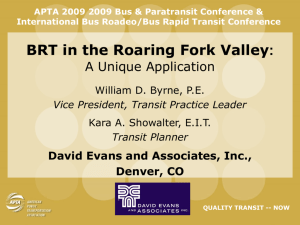 BRT in the Roaring Fork Valley - the National Bus Rapid Transit