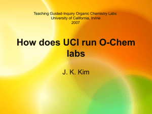 How does UCI run O-Chem labs - University of California, Irvine