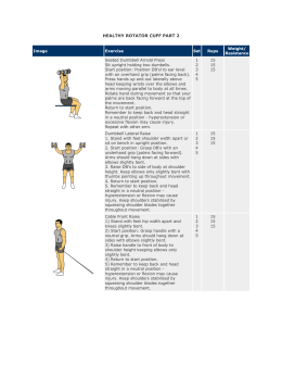 HEALTHY ROTATOR CUFF PART 2 Image Exercise Set Reps