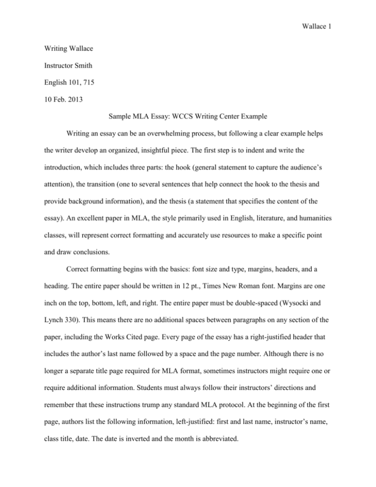 Mla example essays esl content proofreading services for college