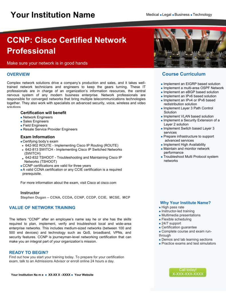 CCNP: Cisco Certified Network Professional