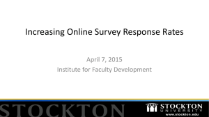 Increasing Online Survey Response Rates (presented on 4/7/15)