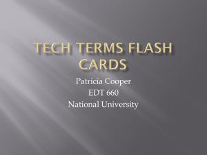 Tech Terms Flash Cards - Ms. Cooper's ELA Page