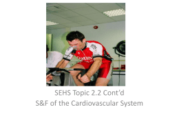 Sehs Topic 2.2 Continuation Of Sf Of Cardiovascular System
