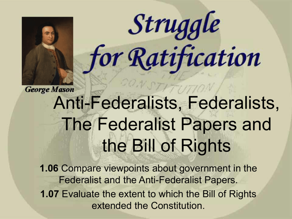 similarities between federalists and anti federalists