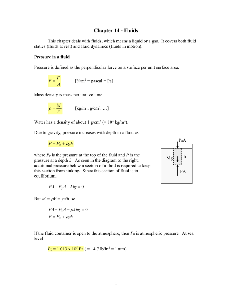 Madison : Definition of atmospheric pressure in fluid mechanics