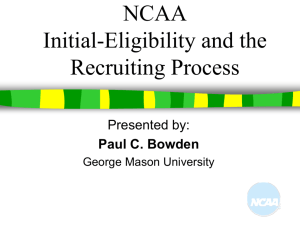 NCAA Eligibility - Fairfax High School