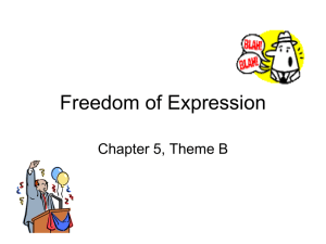 Freedom of Expression - Currituck County Schools