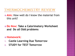 Thermochemistry Review