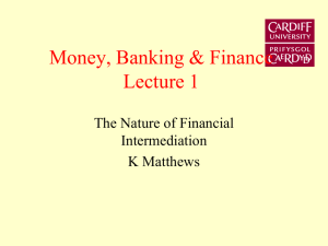 The Nature of Financial Intermediation