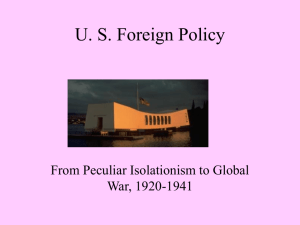 US Foreign Policy - Adams State University