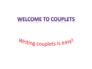 Welcome to Couplets