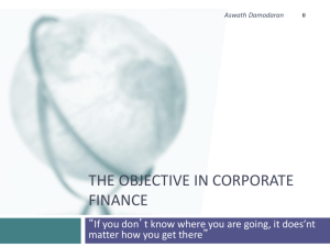 Corporate Finance - NYU Stern School of Business