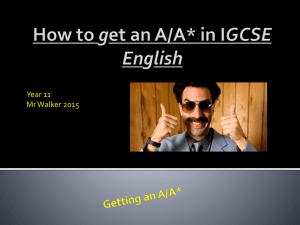 How to get an A - Language tips - BEW