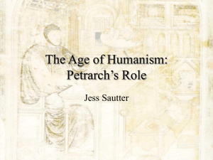 The Age of Humanism: Petrarch's Role