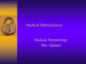 Medical Abbreviations review