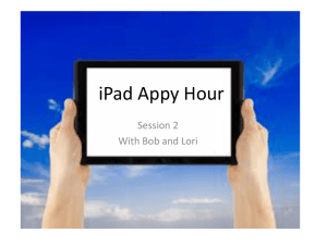 iPad Appy Hour
