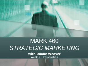 STRATEGIC MARKETING with Duane Weaver