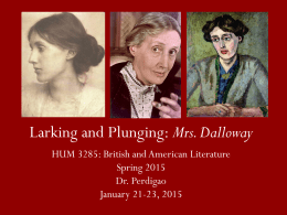 Larking and Plunging: Mrs. Dalloway
