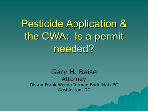 Pesticide Application & the CWA: Is a permit needed?