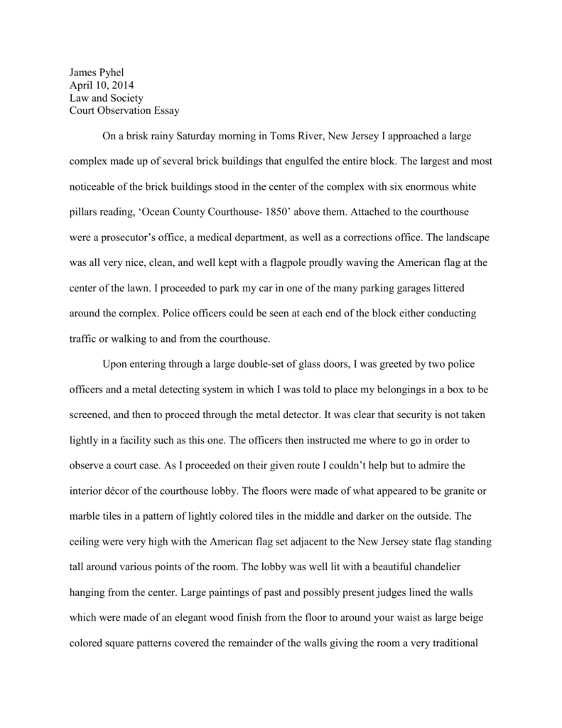 essay on court