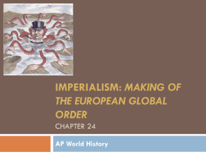 Imperialism: Making of the European global order Chapter 24