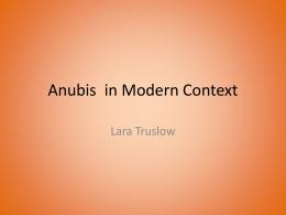 Anubis in Modern Context