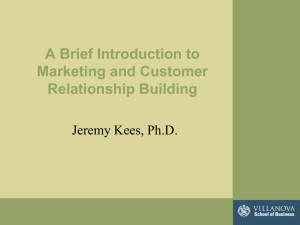 Intro to Marketing and Relationship Marketing