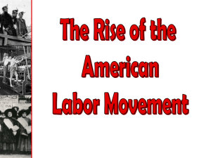 Rise of American Labor