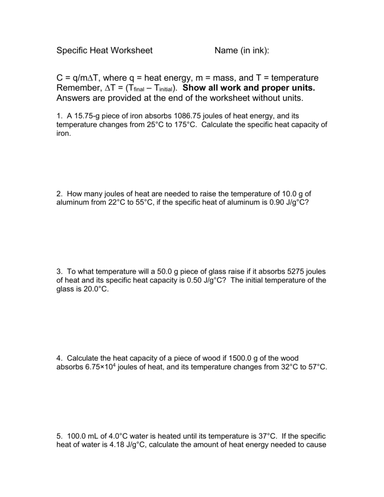 Worksheets Specific Heat Problems Worksheet specific heat worksheet 009195838 1 732fc3562599c4eb39c747ac6dfa1e14 png