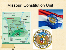 Missouri Constitution Unit
