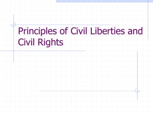 Principles of Civil Liberties and Civil Rights