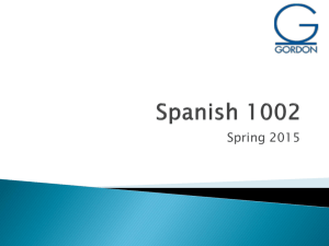 Spanish 1002 - Gordon State College