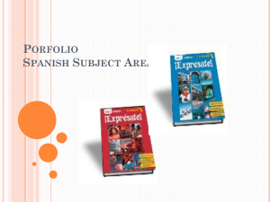 Porfolio Spanish Subject Area