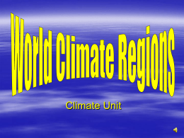 World Climate Zones Presentation