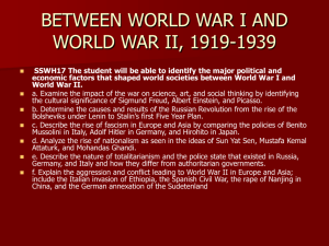between world war i and world war ii, 1919-1939
