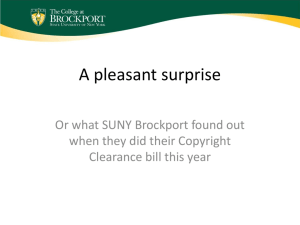 A Pleasant surprise - or what SUNY Brockport