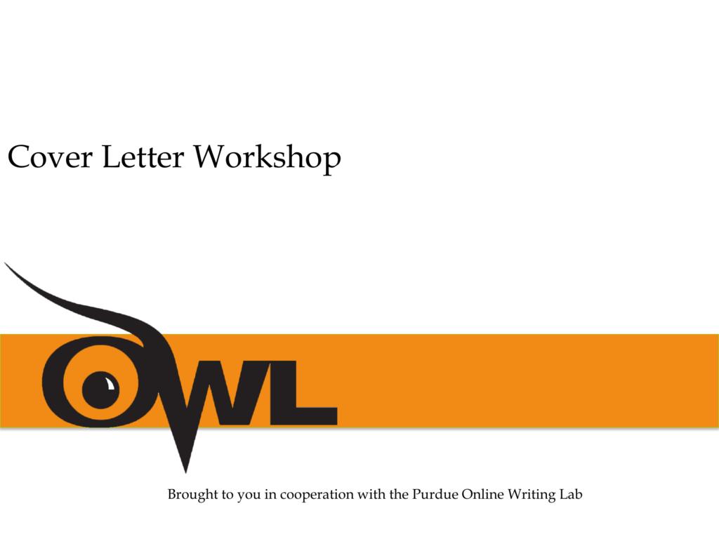Cover Letter Presentation Owl