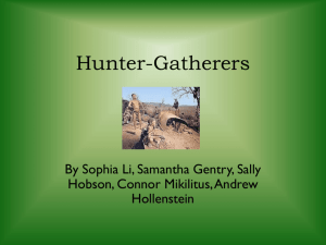 Hunter-Gatherers - harveytechworldhistory