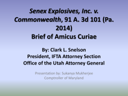 Summary of Amicus Curie Brief