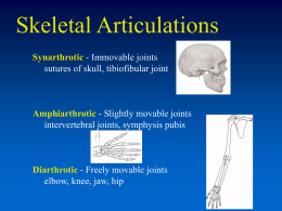 Articulations and Arthritis PowerPoint