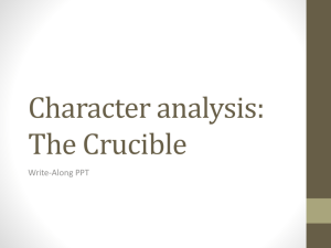 Character analysis: The Crucible