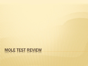 Mole Test Review