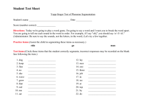 Student Test Sheet Yopp Singer