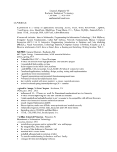 DOC Resume - People - Rochester Institute of Technology